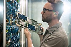 Employee installing network