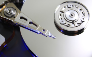 Silver Hard Disk with Reader