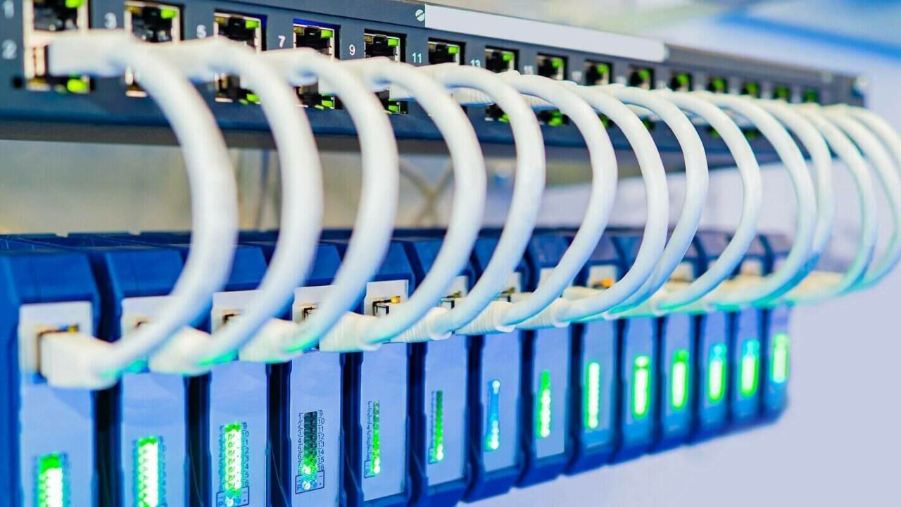 network wires connect equipments