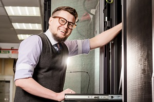 young Managed IT Service Provider in a datacenter