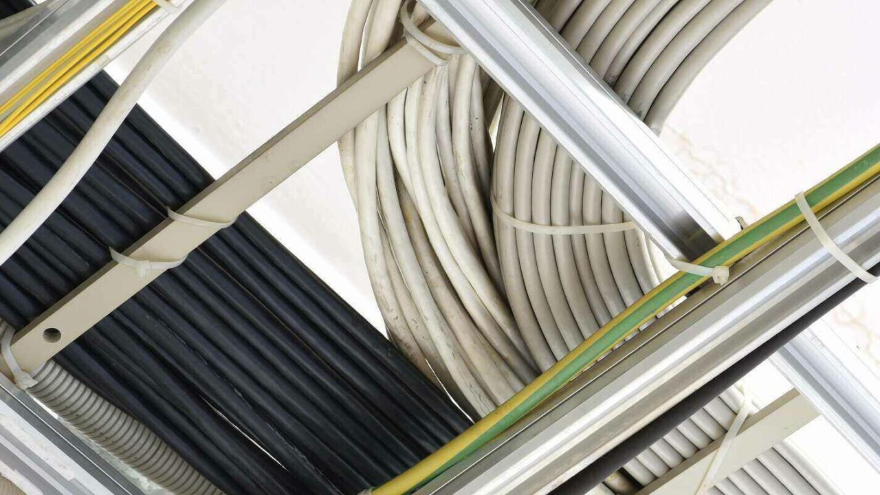 cable ducting in the building